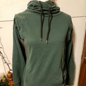 Green cowl/funnel neck sweatshirt